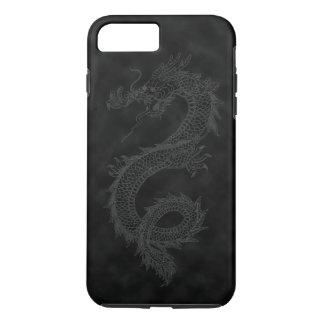 Coque iPhone 8 Plus/7 Plus Dragon noir vintage de fumée