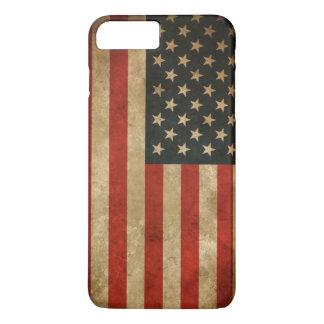 Coque iPhone 8 Plus/7 Plus Drapeau américain grunge vintage - Etats-Unis