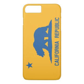 Coque iPhone 8 Plus/7 Plus Drapeau de République de la Californie de bleu et