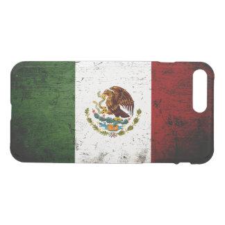 Coque iPhone 8 Plus/7 Plus Drapeau grunge noir du Mexique