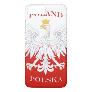 Coque iPhone 8 Plus/7 Plus Drapeau polonais de la Pologne