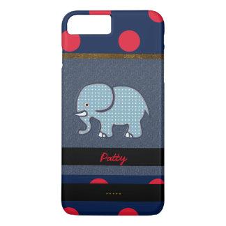 Coque iPhone 8 Plus/7 Plus éléphant et points gentils