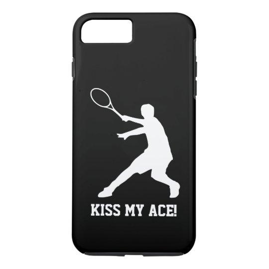 Coque iPhone 8 Plus/7 Plus EMBRASSEZ MA citation drôle de joueur de tennis du