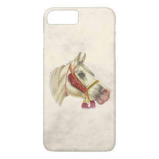 Coque iPhone 8 Plus/7 Plus Étalon d'Arabe d'art de cheval