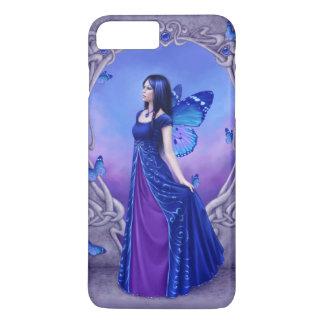 Coque iPhone 8 Plus/7 Plus Fée bleue de papillon de pierre porte-bonheur de