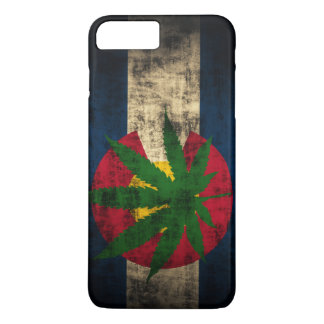 Coque iPhone 8 Plus/7 Plus Feuille de pot de drapeau du Colorado