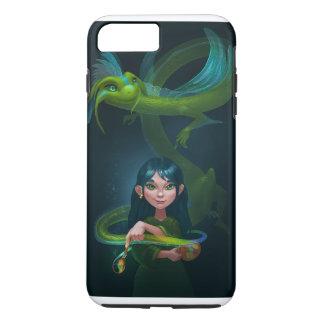 Coque iPhone 8 Plus/7 Plus Fille avec le dragon