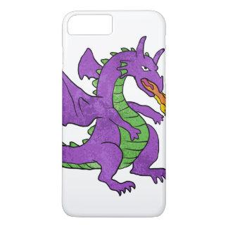 Coque iPhone 8 Plus/7 Plus flammes de lancement de dragon pourpre