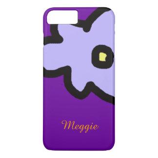 Coque iPhone 8 Plus/7 Plus fleur lilas avec le nom fait sur commande