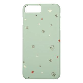 Coque iPhone 8 Plus/7 Plus Flocons de neige et étoiles de Noël