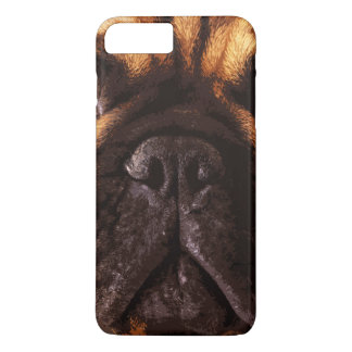 Coque iPhone 8 Plus/7 Plus grand bouledogue français brun moderne