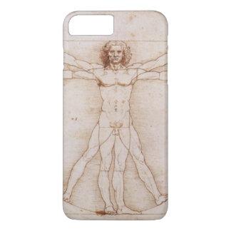 Coque iPhone 8 Plus/7 Plus Homme de Vitruvian en détail par Leonardo da Vinci