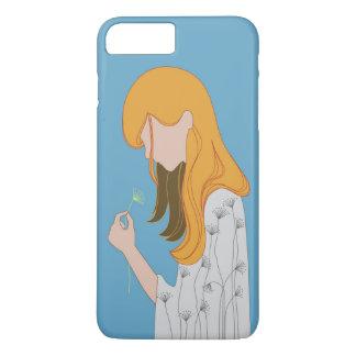 Coque iPhone 8 Plus/7 Plus Illustration jaune de cheveux