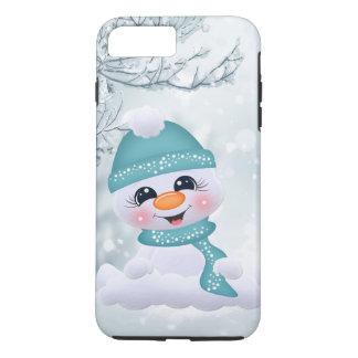 Coque iPhone 8 Plus/7 Plus iPhone de fête de vacances de bonhomme de neige de