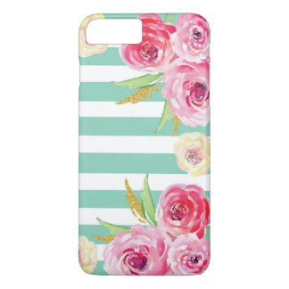 Coque iPhone 8 Plus/7 Plus iPhone floral de motif d'aquarelle Girly 8/7 cas