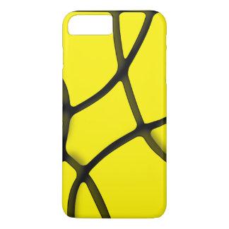 Coque iPhone 8 Plus/7 Plus iPhone jaune 7 de labyrinthe plus, à peine là