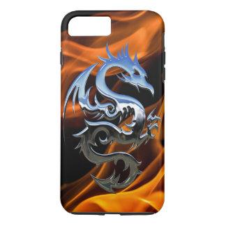 Coque iPhone 8 Plus/7 Plus iPhone X/8/7 de dragon du feu plus le cas dur
