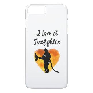 Coque iPhone 8 Plus/7 Plus J'aime un sapeur-pompier