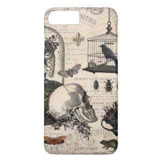 Coque iPhone 8 Plus/7 Plus Jardin vintage moderne de Halloween