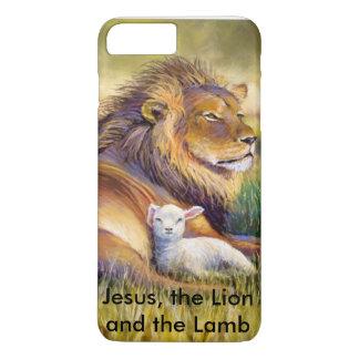 Coque iPhone 8 Plus/7 Plus Jésus, le lion et l'agneau