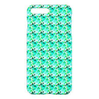 Coque iPhone 8 Plus/7 Plus Joli vert de cas de motif de coeurs