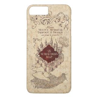 Coque iPhone 8 Plus/7 Plus La carte du maraudeur du charme | de Harry Potter