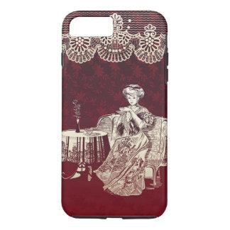 Coque iPhone 8 Plus/7 Plus la dame boit du thé