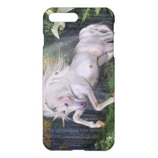 Coque iPhone 8 Plus/7 Plus La magie en bois de forêt de licorne tient le