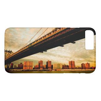 Coque iPhone 8 Plus/7 Plus La vue de pont de Manhattan du côté de Brooklyn