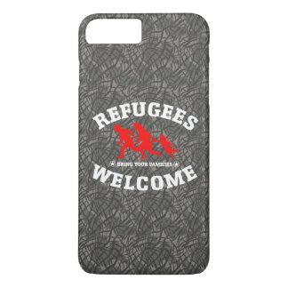 Coque iPhone 8 Plus/7 Plus L'accueil de réfugiés amènent votre famille