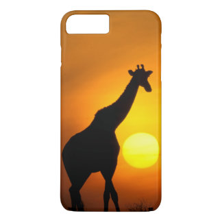 Coque iPhone 8 Plus/7 Plus L'Afrique, Kenya, masai Mara. Girafe (girafe