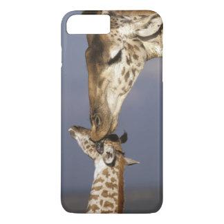 Coque iPhone 8 Plus/7 Plus L'Afrique, Kenya, masai Mara. Girafes (girafe