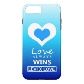 """Coque iPhone 8 Plus/7 Plus Le """"amour gagne toujours"""" - l'AMOUR de LÉVI X"""