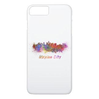 Coque iPhone 8 Plus/7 Plus Le Mexique Ville skyline in watercolor