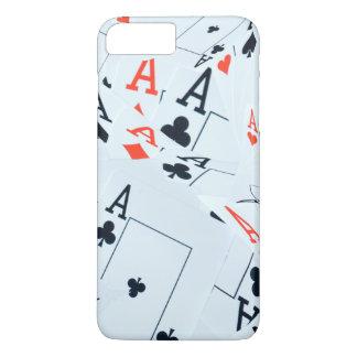 Coque iPhone 8 Plus/7 Plus Le quadruple Aces le motif de cartes de tisonnier,