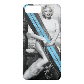Coque iPhone 8 Plus/7 Plus Le surf des neiges de Marilyn