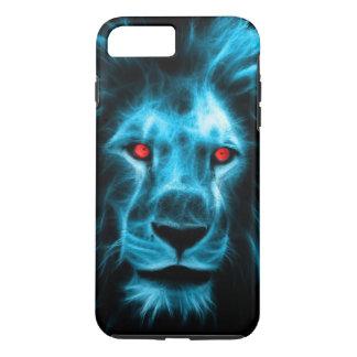 Coque iPhone 8 Plus/7 Plus Lion bleu