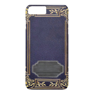 Coque iPhone 8 Plus/7 Plus Livre grunge attaché de cuir