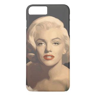 Coque iPhone 8 Plus/7 Plus Marilyn grise graphique