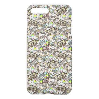 Coque iPhone 8 Plus/7 Plus MINI CASSETTE MULTICOLORE plus le cas brillant de
