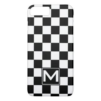 Coque iPhone 8 Plus/7 Plus Monogramme Checkered de BW