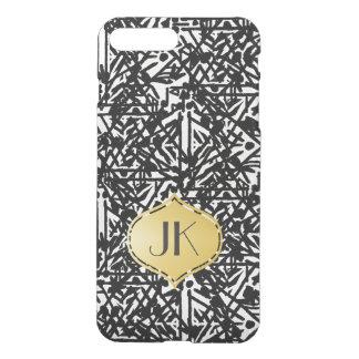 Coque iPhone 8 Plus/7 Plus Monogramme de Bohème chic et insouciant d'or