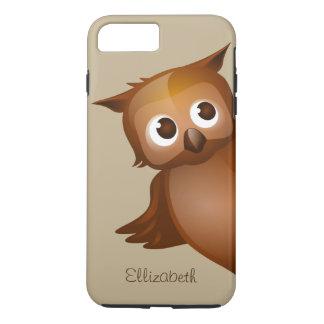 Coque iPhone 8 Plus/7 Plus Monogramme drôle nommé fait sur commande mignon