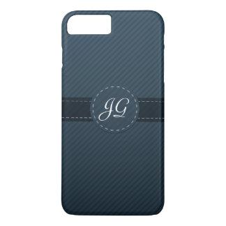 Coque iPhone 8 Plus/7 Plus Monogramme fait sur commande chic de bleu marine -
