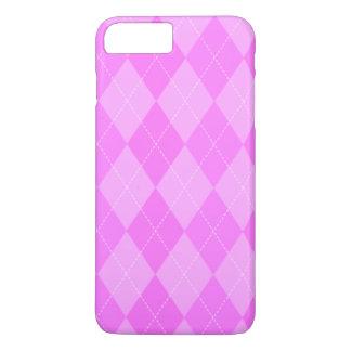 Coque iPhone 8 Plus/7 Plus Motif à motifs de losanges rose mignon