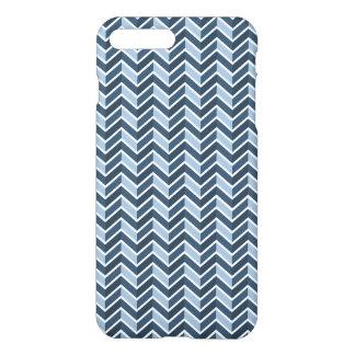 Coque iPhone 8 Plus/7 Plus Motif de Chevron de bleu marine