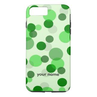Coque iPhone 8 Plus/7 Plus Motif de point vert de tisonnier
