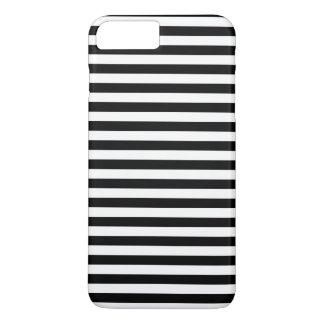 Coque iPhone 8 Plus/7 Plus Motif des rayures, motif rayé - noir blanc