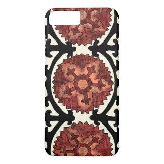Coque iPhone 8 Plus/7 Plus Motif floral décoratif de style de Suzani