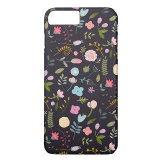 Coque iPhone 8 Plus/7 Plus Motif floral sur l'arrière - plan foncé